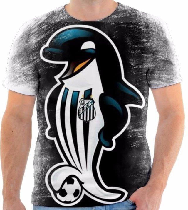 c58cb74dc Camisa Camiseta Blusa Santos Futebol Clube Time Mascote 2 - R  50