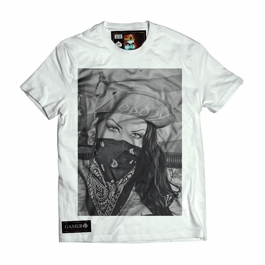camisa camiseta blusa swag sexy girl bandana thug life. Carregando zoom. 741efdffabf