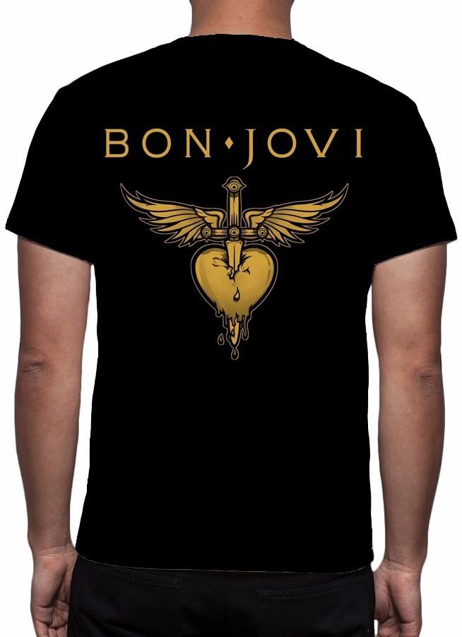 b0f91de38 ... camiseta bon jovi - frete grátis. Carregando zoom.