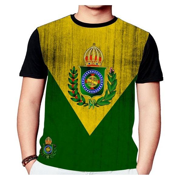 Camisa Camiseta Brasão Monarquia Brasileira 722 - R  51 bd0e847742ca2