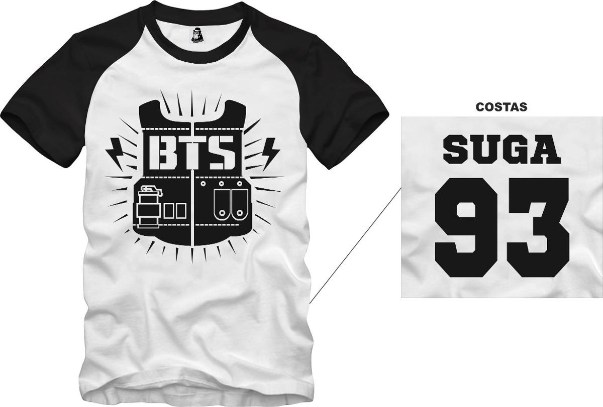 b0c5b3b70384c camisa camiseta bts bangtan boys suga 93 algodão. Carregando zoom.