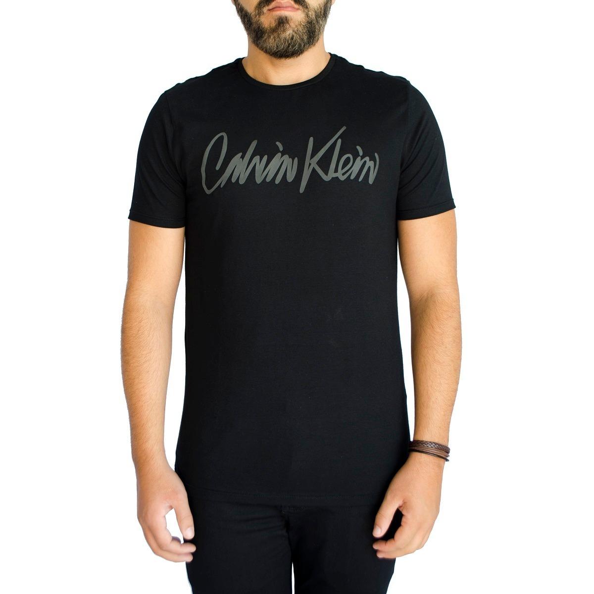 cb93f50f02384 camisa camiseta calvin klein jeans ckj masc slim fit preto. Carregando zoom.