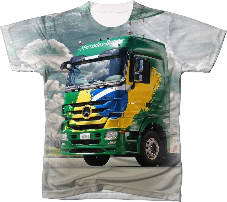 camisa camiseta caminhão mercedes-benz actros 2546 carreta. Carregando zoom. 0a5768cbc2667