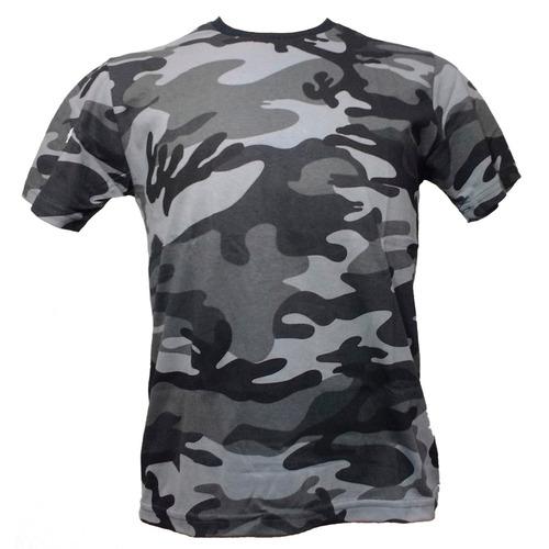 camisa camiseta camuflada cinza