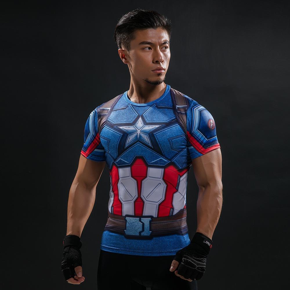 camisa camiseta capitão america 3d masc. top - manga curta. Carregando zoom. 7c5a94367bc1a