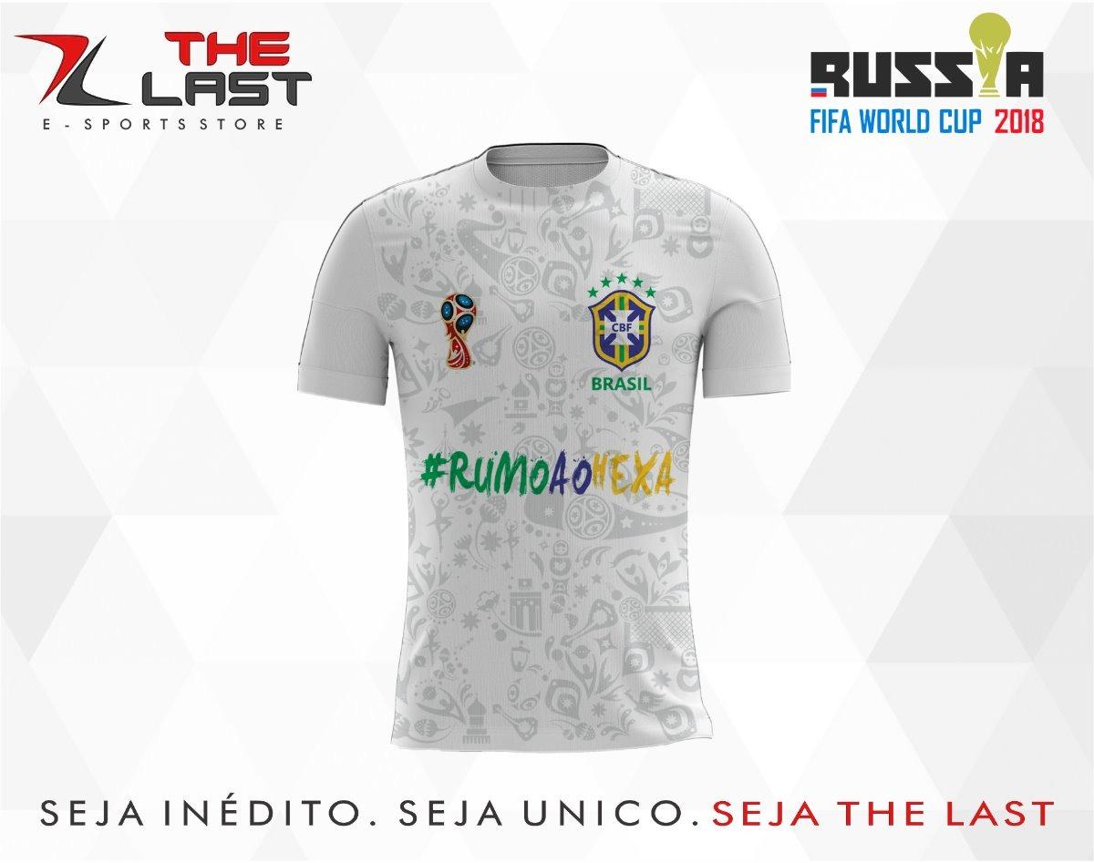 1dc53359dcef6 camisa camiseta copa do mundo russia 2018 brasil. Carregando zoom.