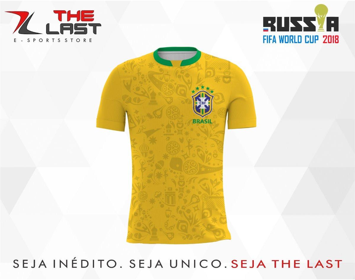 005416420 camisa camiseta copa do mundo russia 2018 brasil amarela. Carregando zoom.