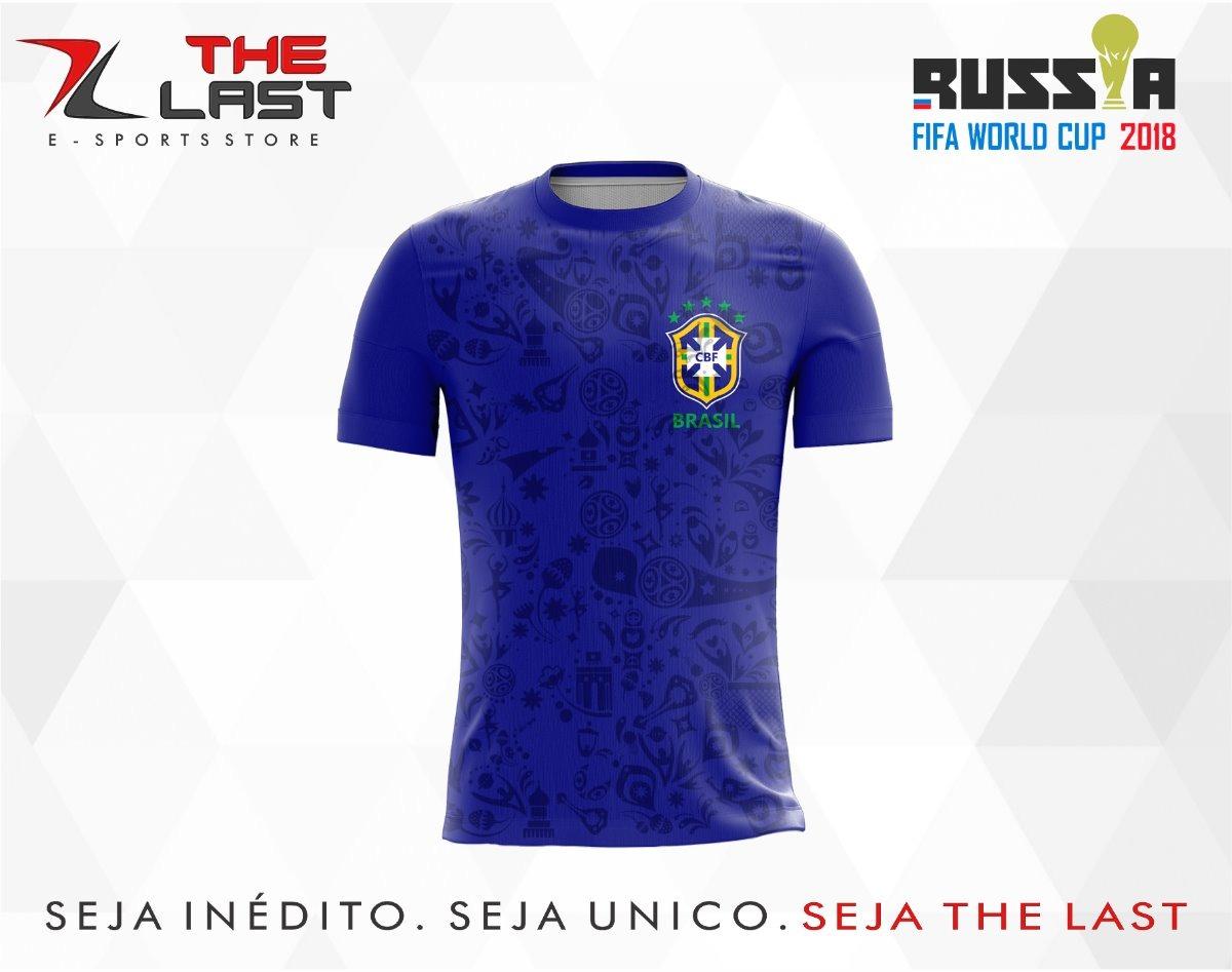 2e4a7d5dc9cbd camisa camiseta copa do mundo russia 2018 brasil azul. Carregando zoom.