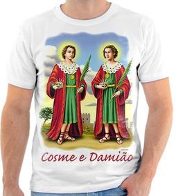 cc00edbc86 Camisa Camiseta Cosme E Damião Santos Igreja Católica