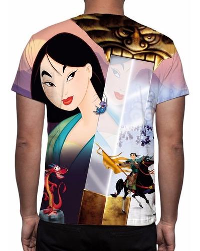 camisa, camiseta disney mulan - estampa total