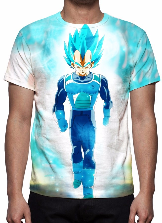 826f395dd ... camiseta dragon ball super - vegeta (saiyajin deus). Carregando zoom.