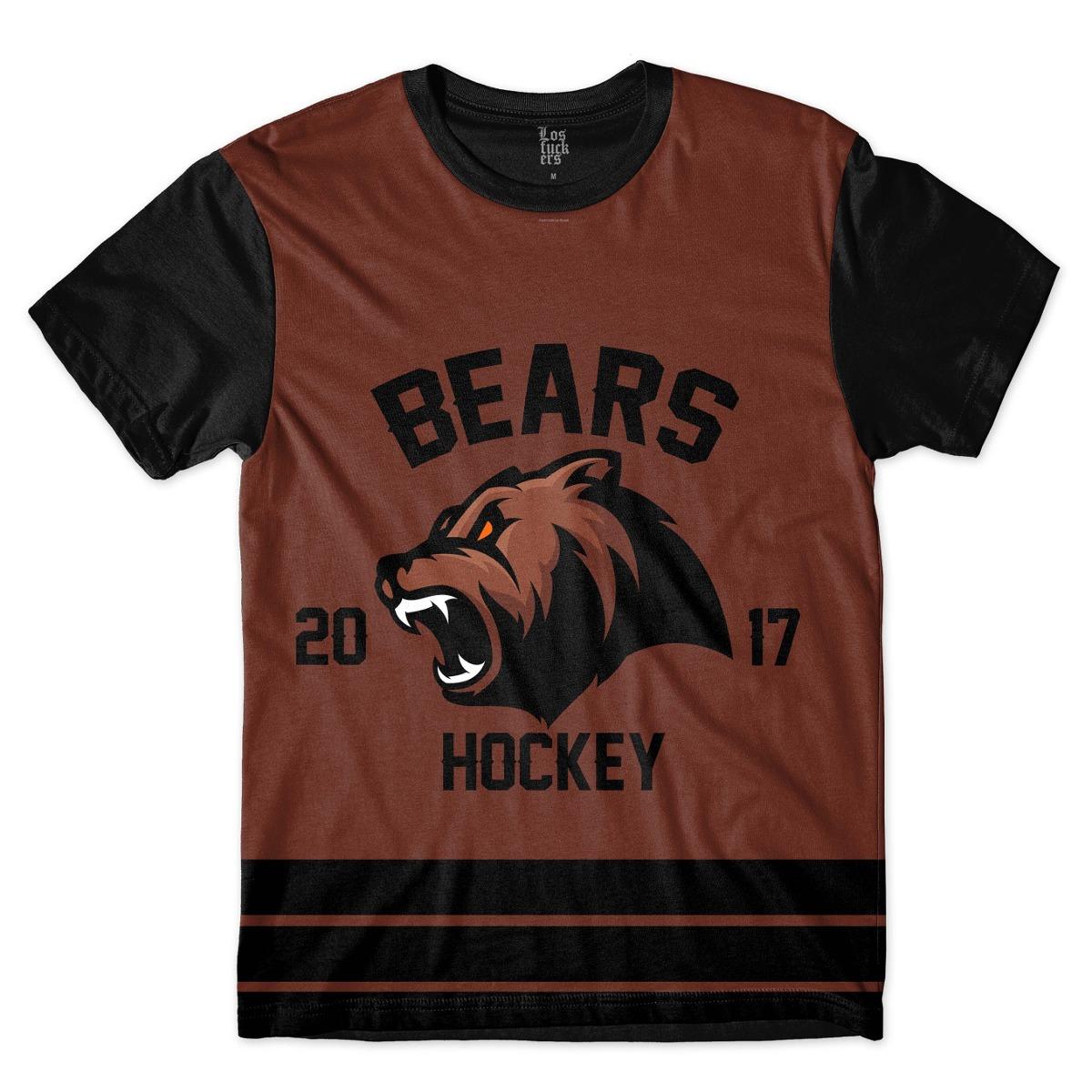 camisa camiseta equipe de hockey bears urso macote time full. Carregando  zoom. b0cd0a9361554