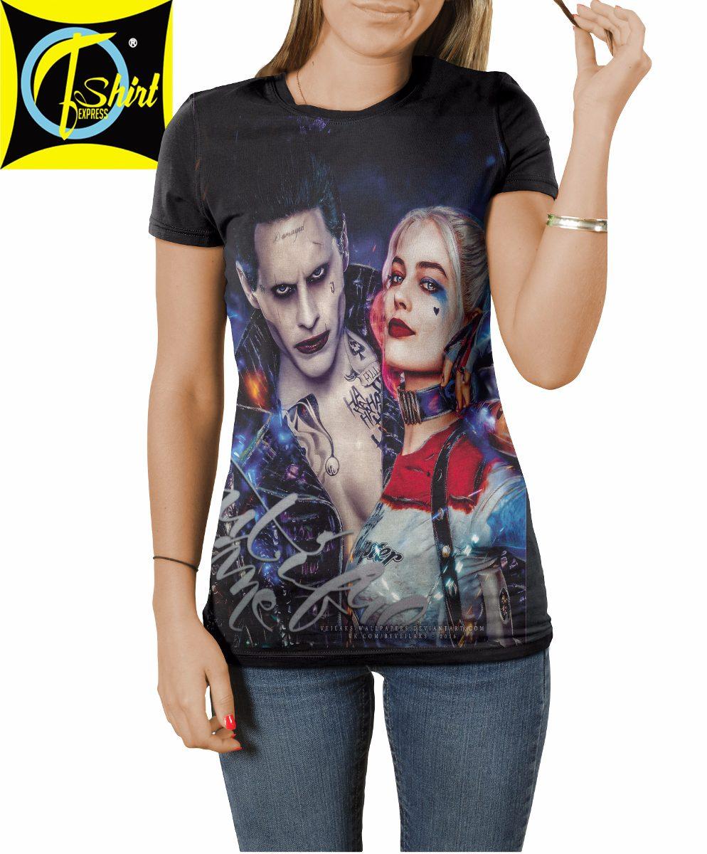 Camisa Camiseta Esquadrao Suicida Arlequina Coringa R 39 90 Em