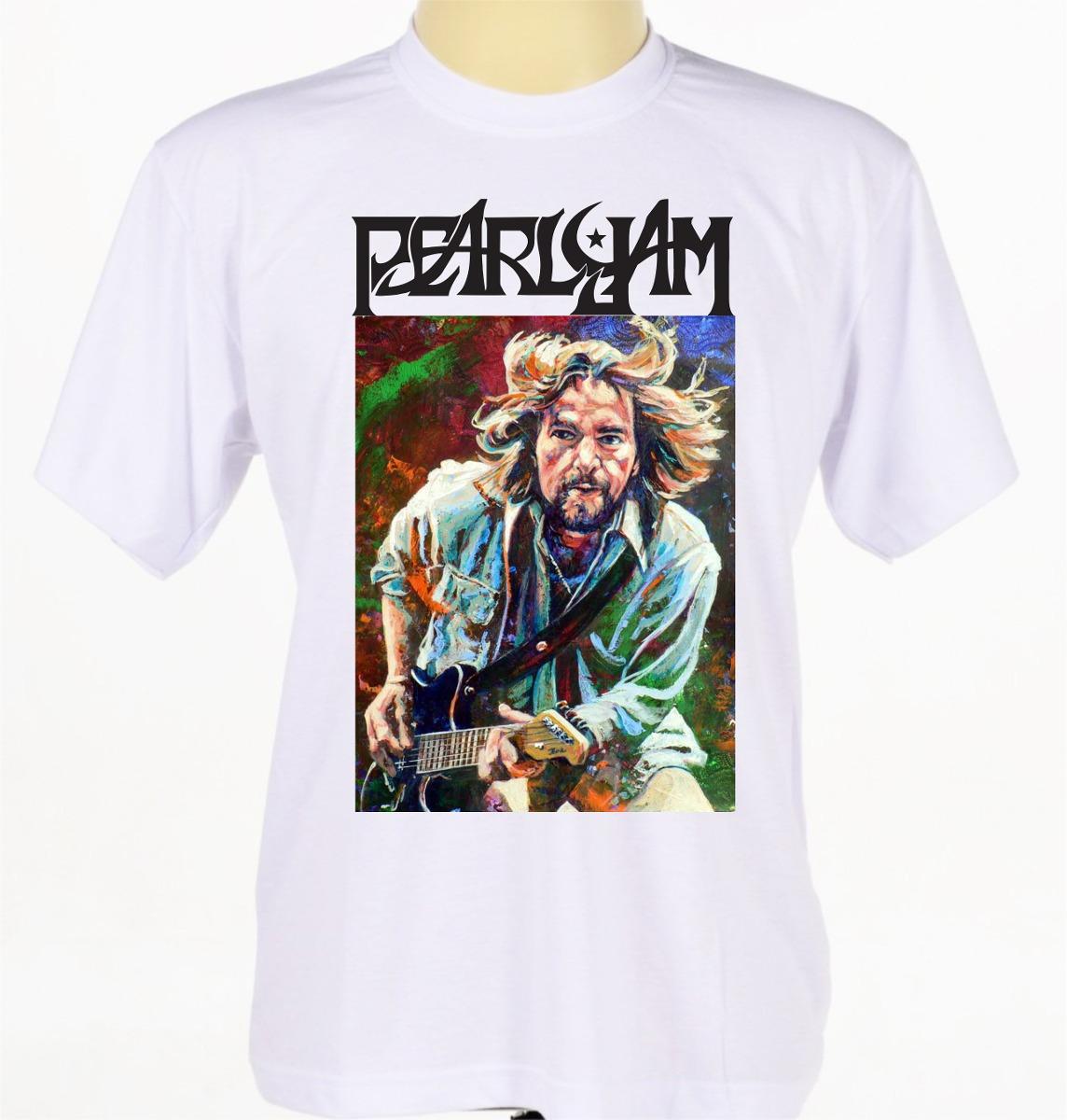 a07b39ed92aba Camisa Camiseta Estampada Cantor Eddie Vedder Pearl Jam - R  47
