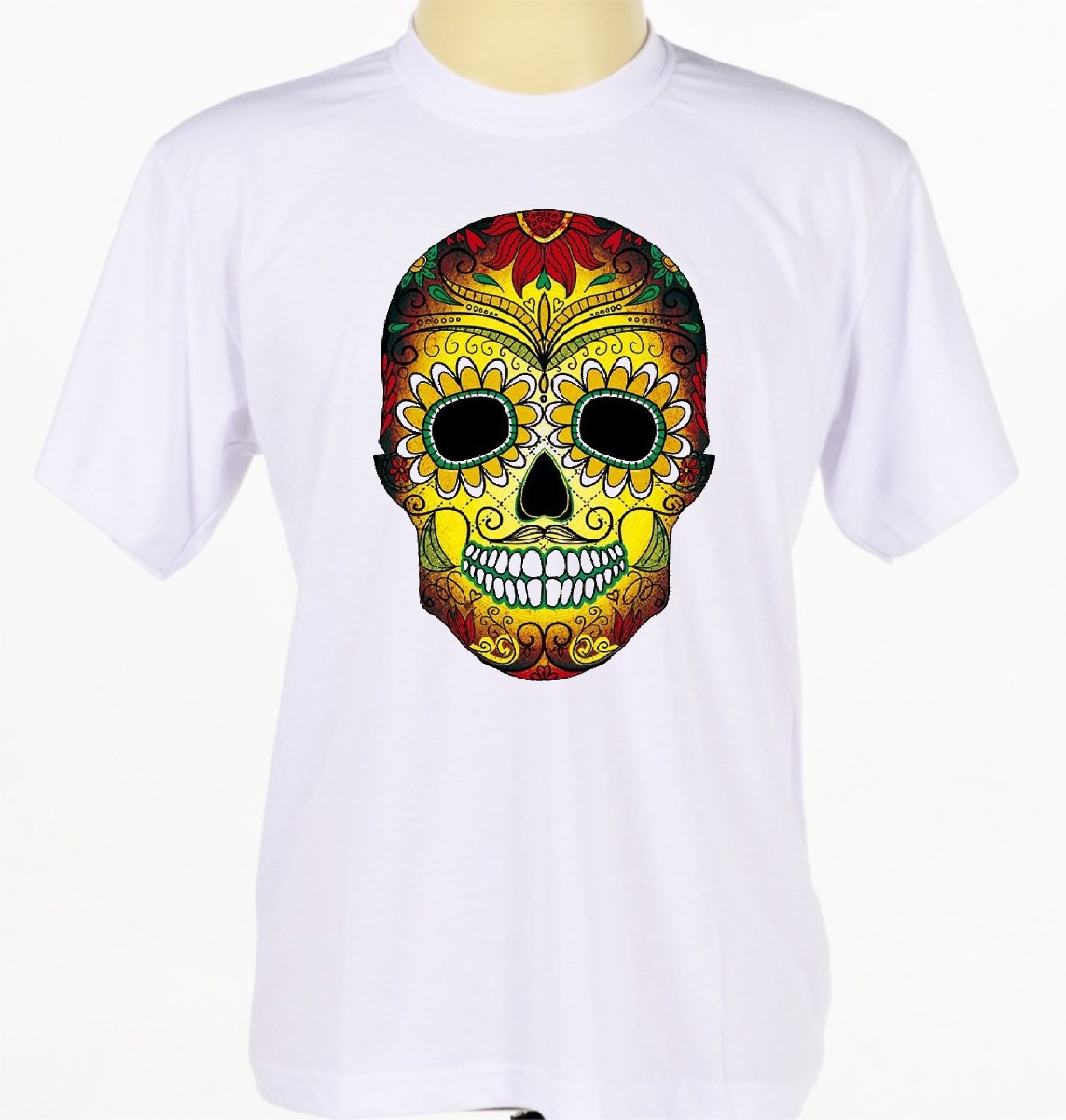 3d6d0913df7d3 camisa camiseta estampada caveira mexicana catrina colorida. Carregando  zoom.