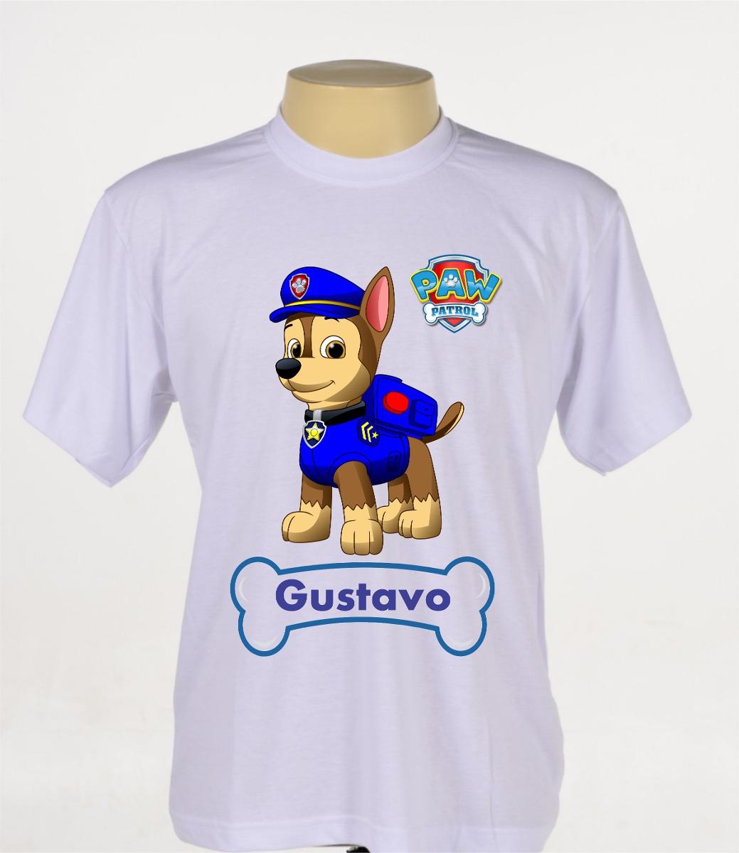 52143628fbde0 camisa camiseta estampada infantil patrulha canina chase. Carregando zoom.
