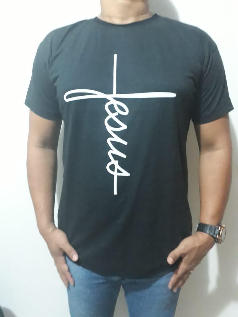 camisa camiseta fé longline oversized masculina jesus.. Carregando zoom. a9a2072a702