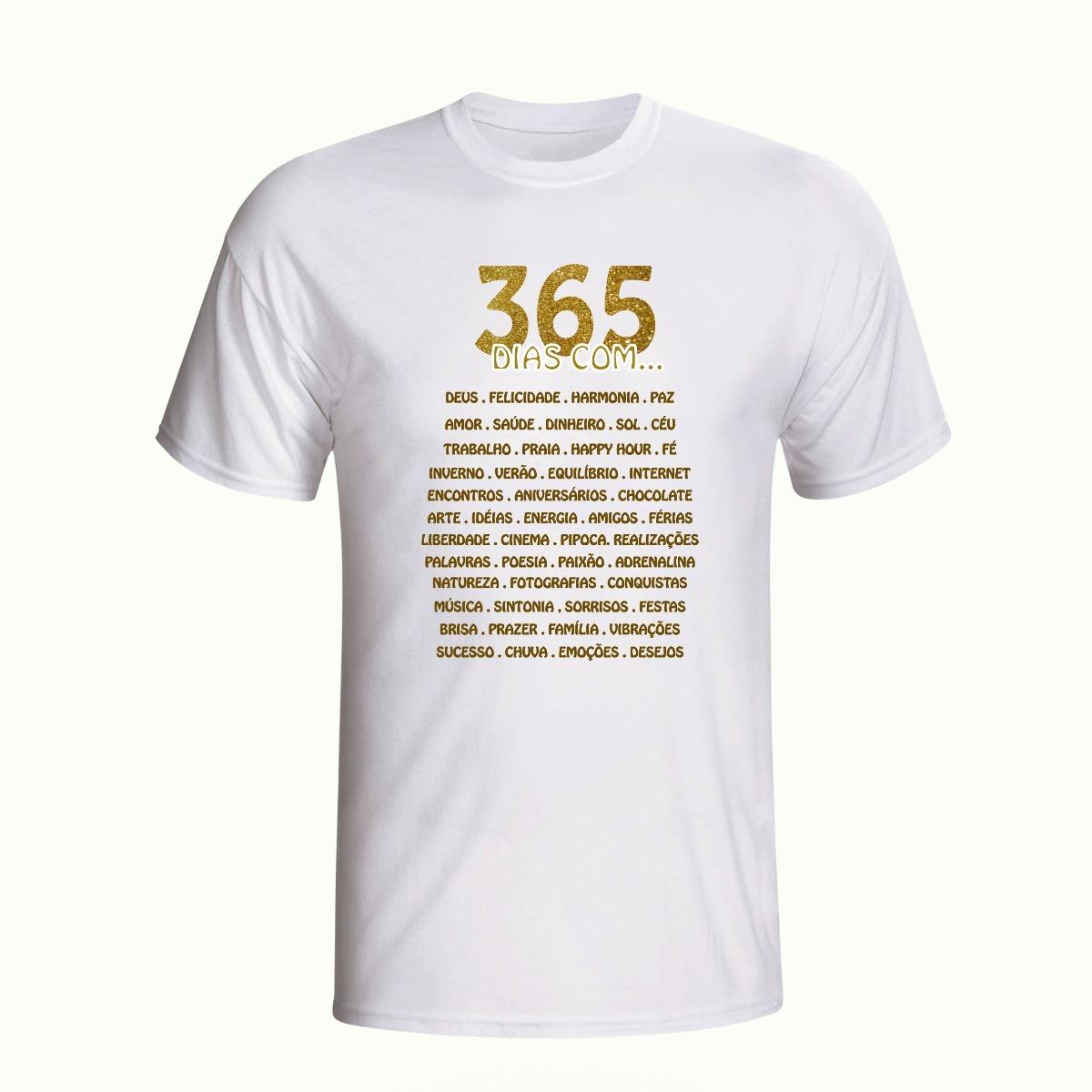 Camisa Camiseta Feliz 2019 Ano Novo Frases Reveillon R 3399 Em