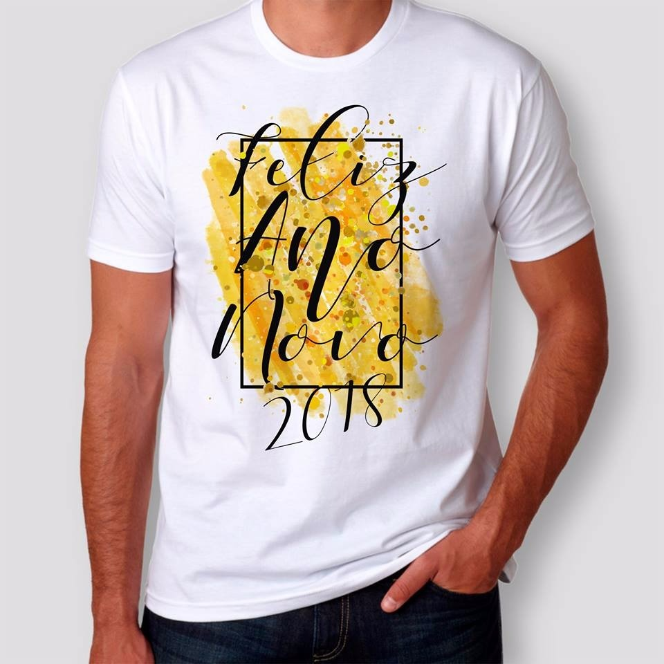 camisa camiseta feliz ano novo 2018 reveillon - modelo 2. Carregando zoom. 8170ef890c3