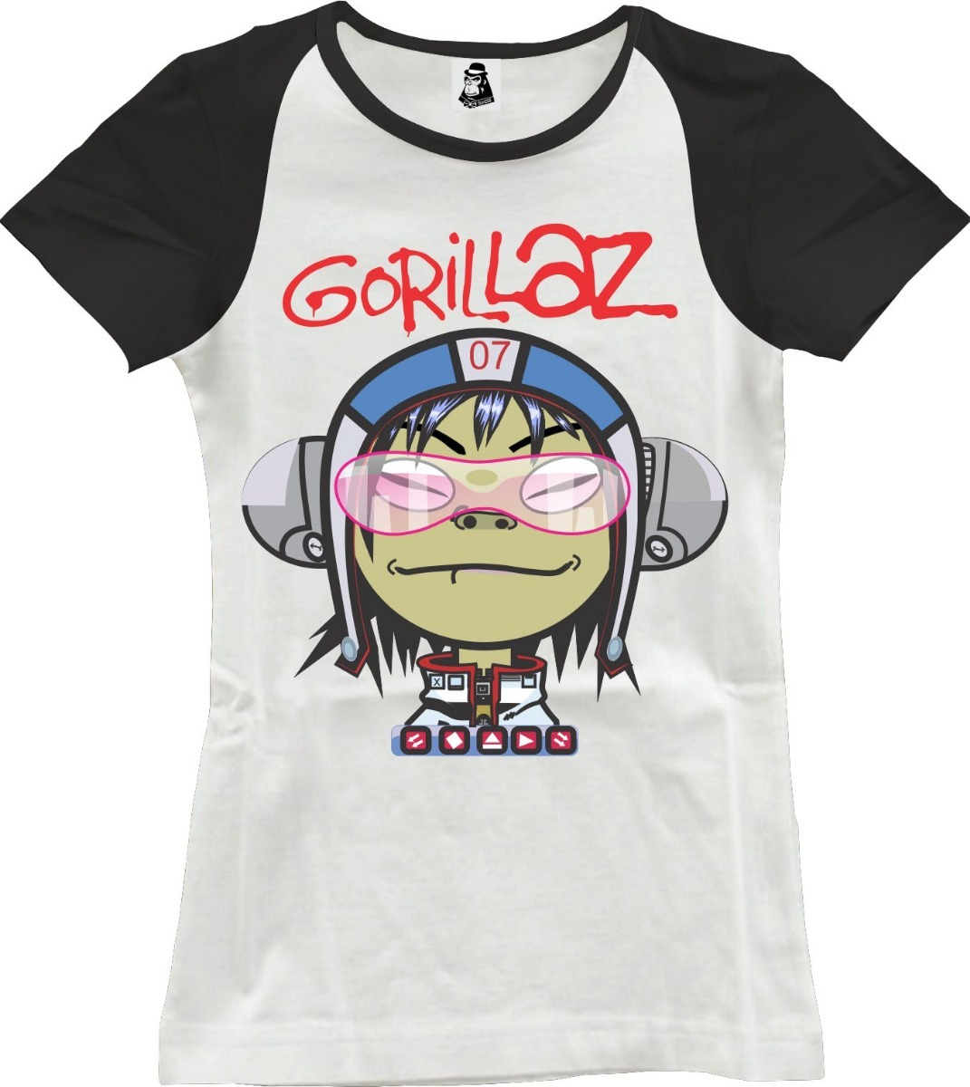 camisa camiseta feminina de rock gorillaz noodle. Carregando zoom. 8dac7d7ec68b4