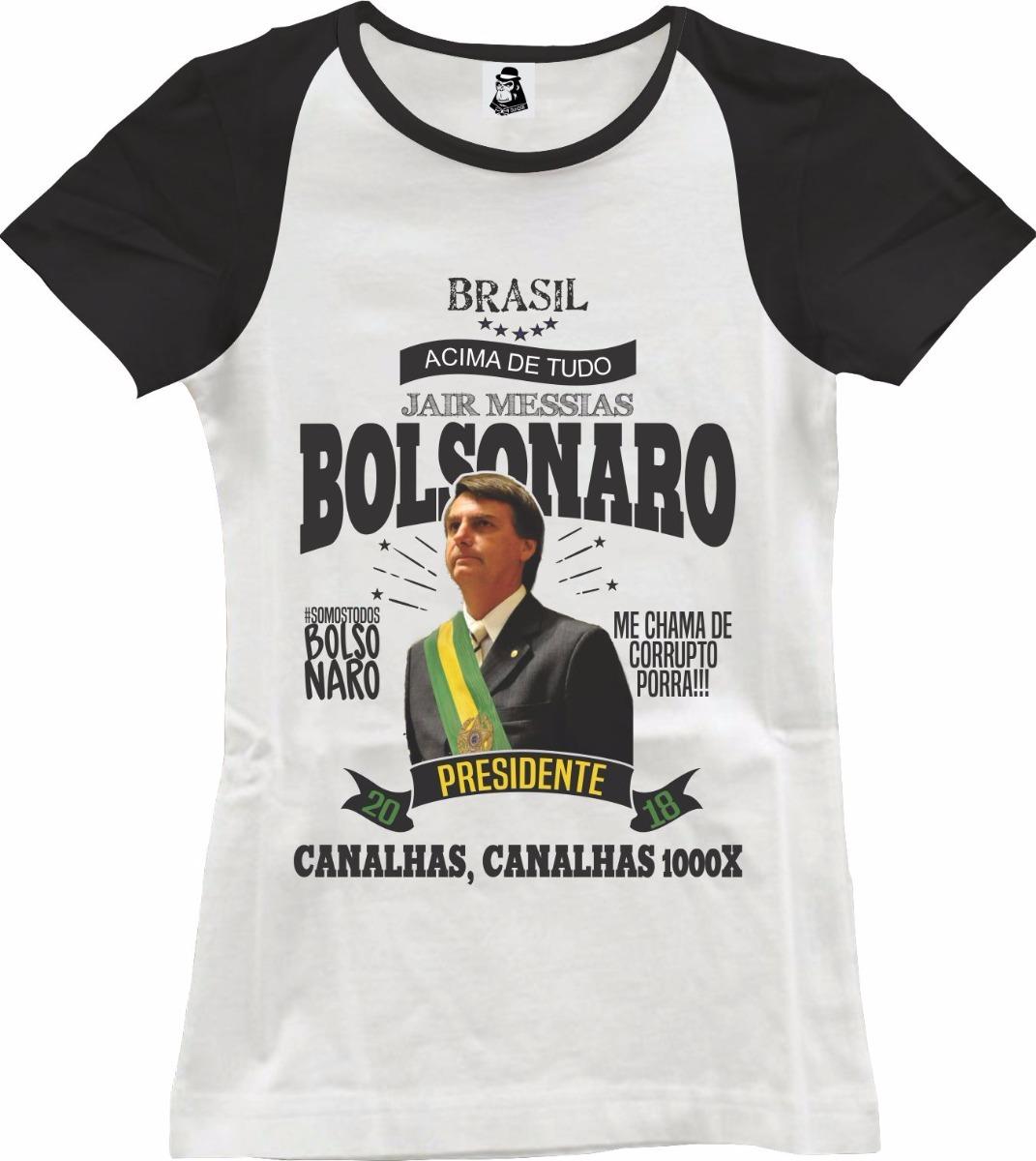 c8ae3c7cd1307 camisa camiseta feminina jair bolsonaro presidente 2019. Carregando zoom.