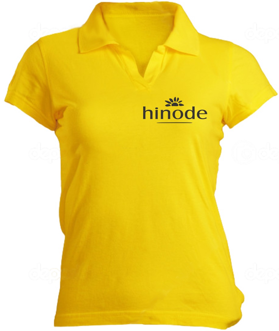 7f4fef80d325b ... camiseta feminina polo amarela hinode silk-screen. Carregando zoom.