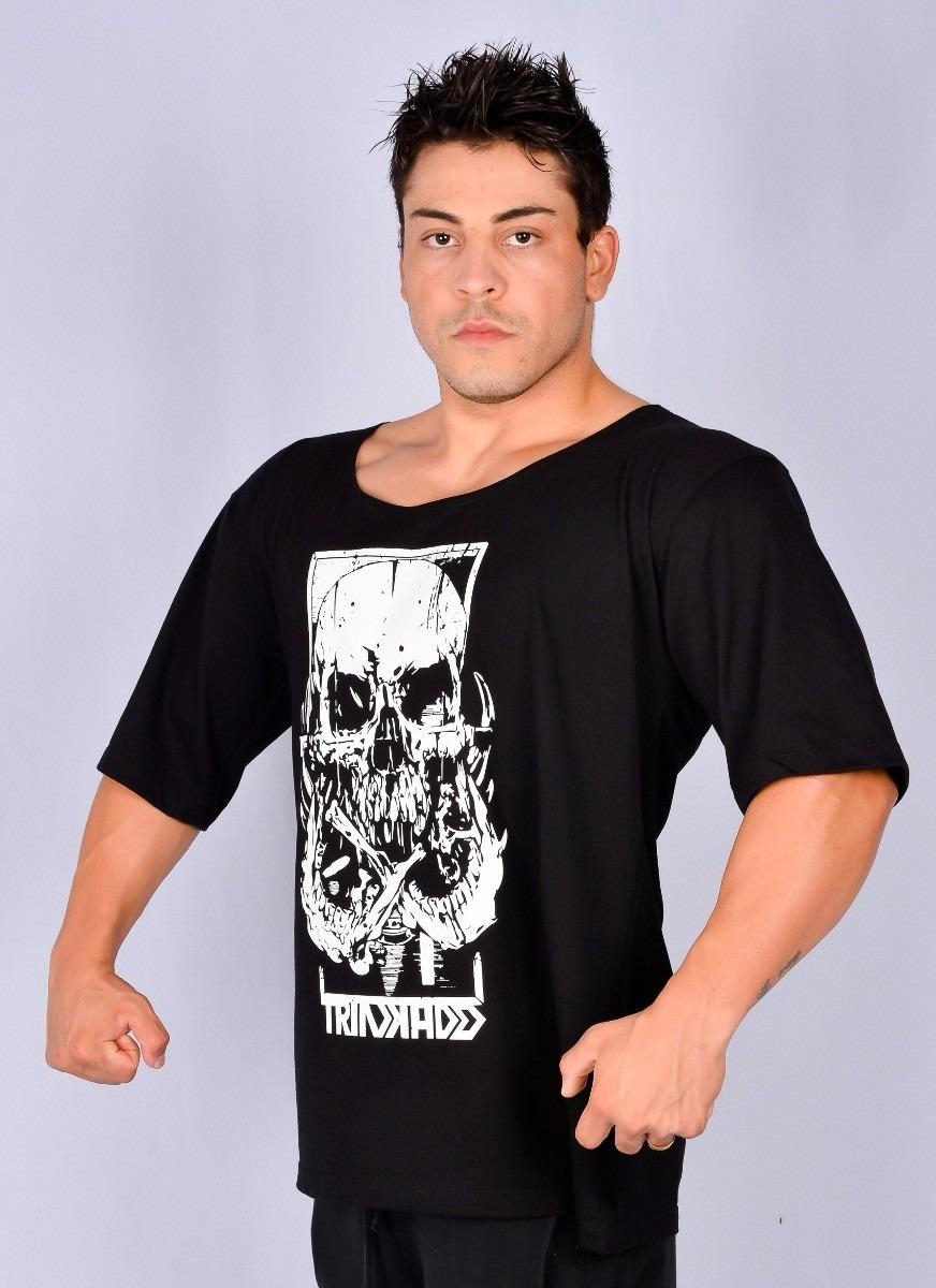 camisa camiseta fitness morcego musculação masculina malhar. Carregando zoom . bfc70fa498a13