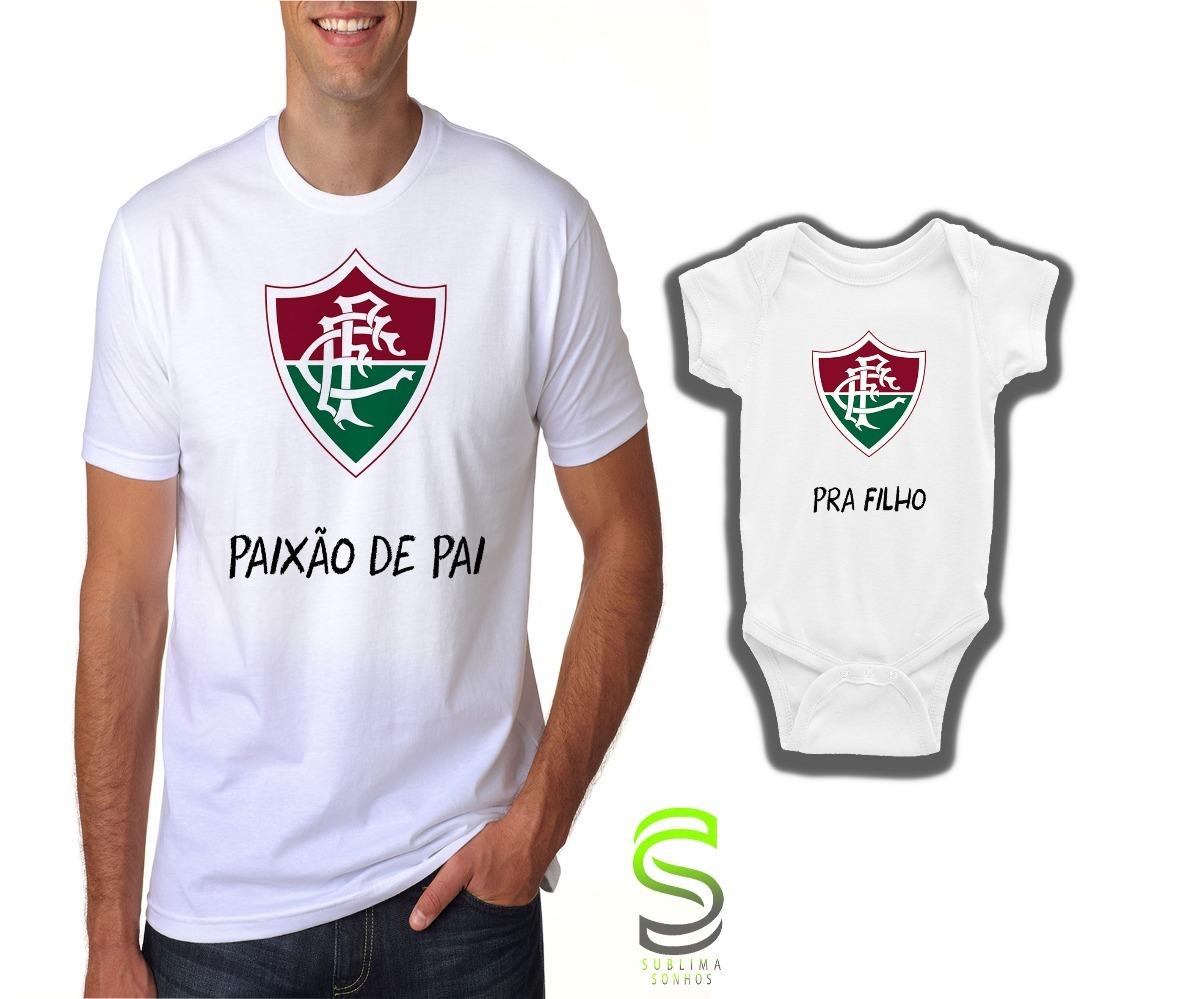 Camisa Camiseta Fluminense Kit Pai E Filho(a) Body - R  76 c4d57f5d24a2a