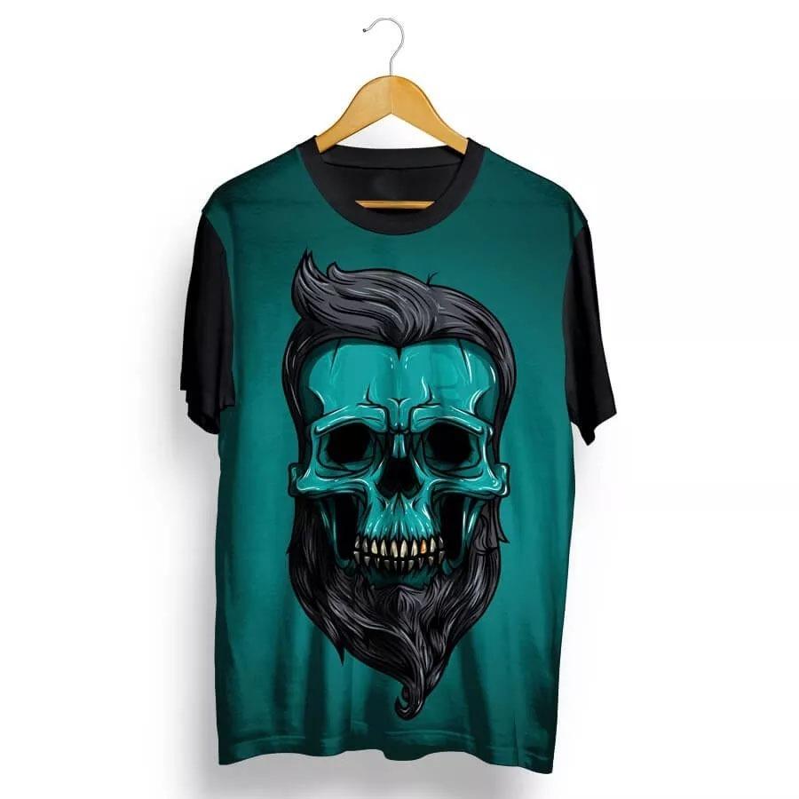 2790deee81b98 camisa camiseta full 3d caveira barba rock skull. Carregando zoom.