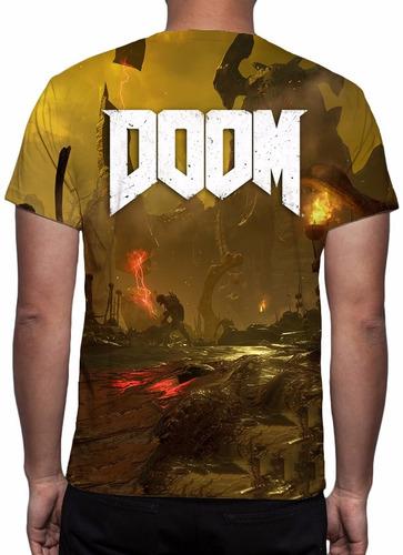 camisa, camiseta game doom - mod 02 - estampa total