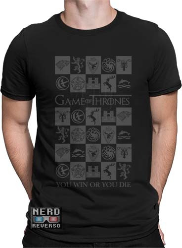 camisa, camiseta game of thrones targaryen lannister stark