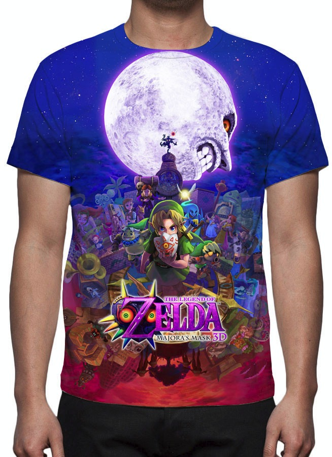 camisa camiseta game zelda majora s mask estampa total r 49 90