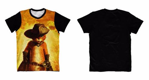camisa, camiseta gato de botas