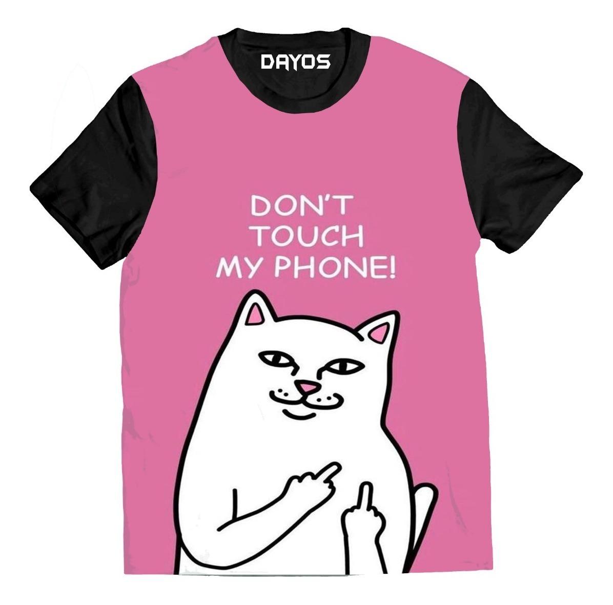 Camisa Camiseta Gato Frases Tumblr Desenho Colorido Blusa R 39