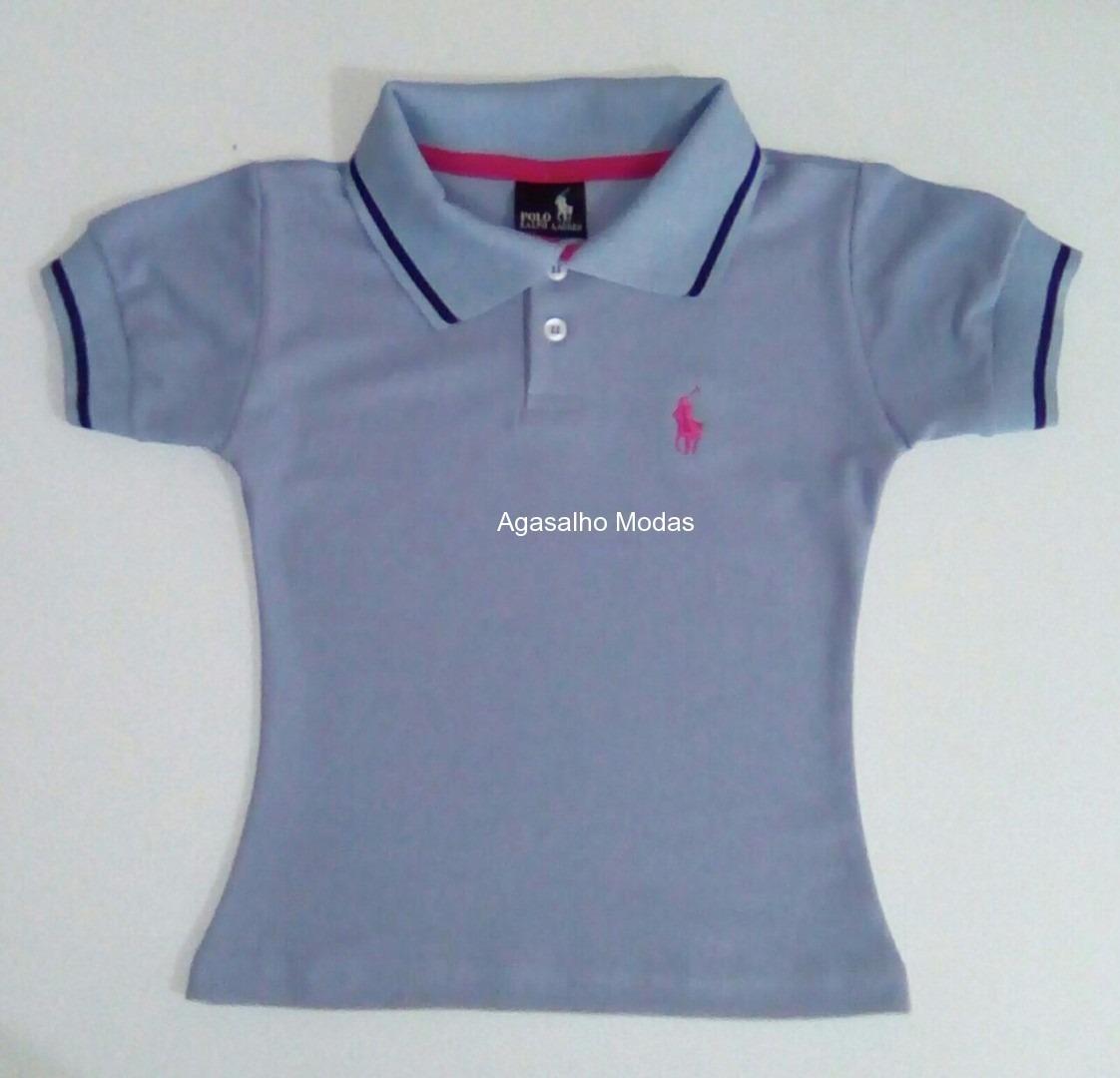 camisa camiseta gola polo infantil feminina - atacado. Carregando zoom. d294bf59218aa