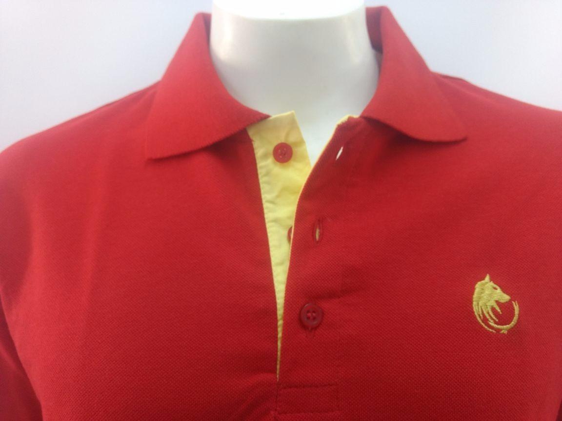 6e91ab3b5 camisa camiseta gola polo masculina vermelha piquet cekock. Carregando zoom.