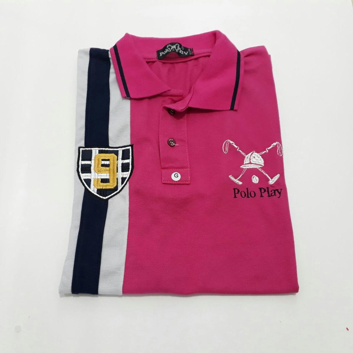 c582bdbc22352 camisa camiseta gola polo play bordada masculina promoção. Carregando zoom.