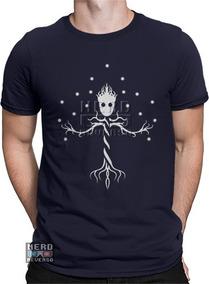 17dfc71bad Camiseta Masculina Groot Ouvindo Música ( Frete Grátis ) - Calçados ...