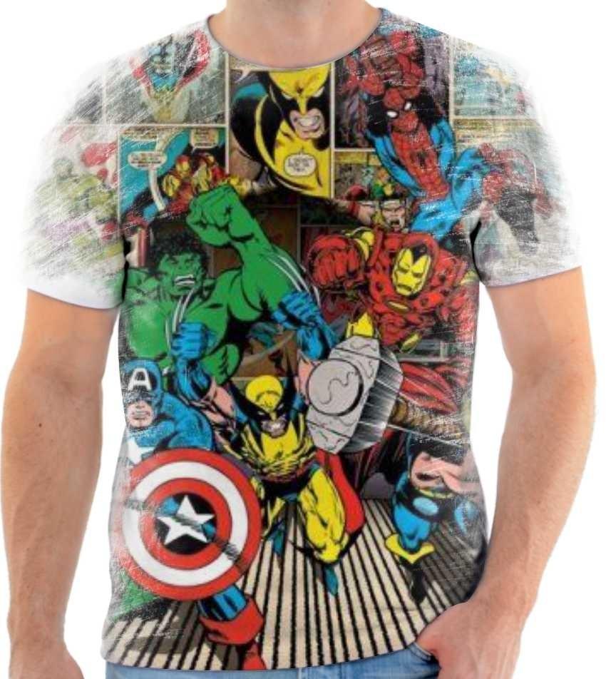 8e4e7fd871 Camisa, Camiseta Historia Em Quadrinhos Marvel 02 - R$ 55,00 em ...