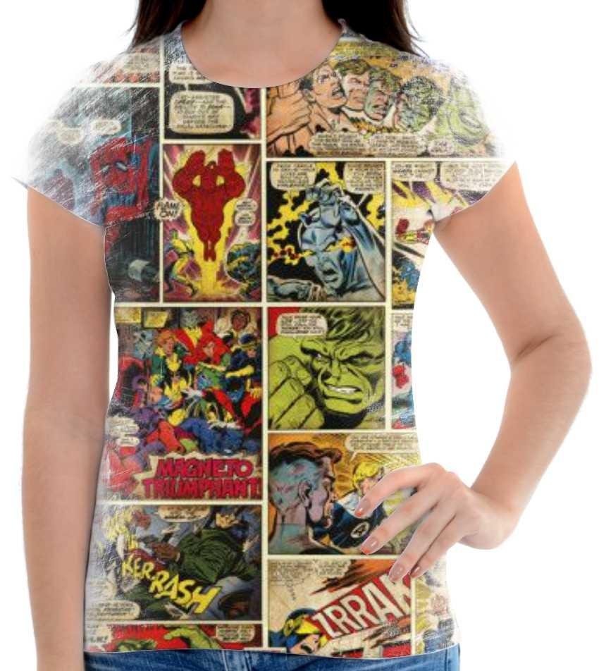 fc1a08202e Camisa, Camiseta Historia Em Quadrinhos Marvel 06 - R$ 55,00 em ...