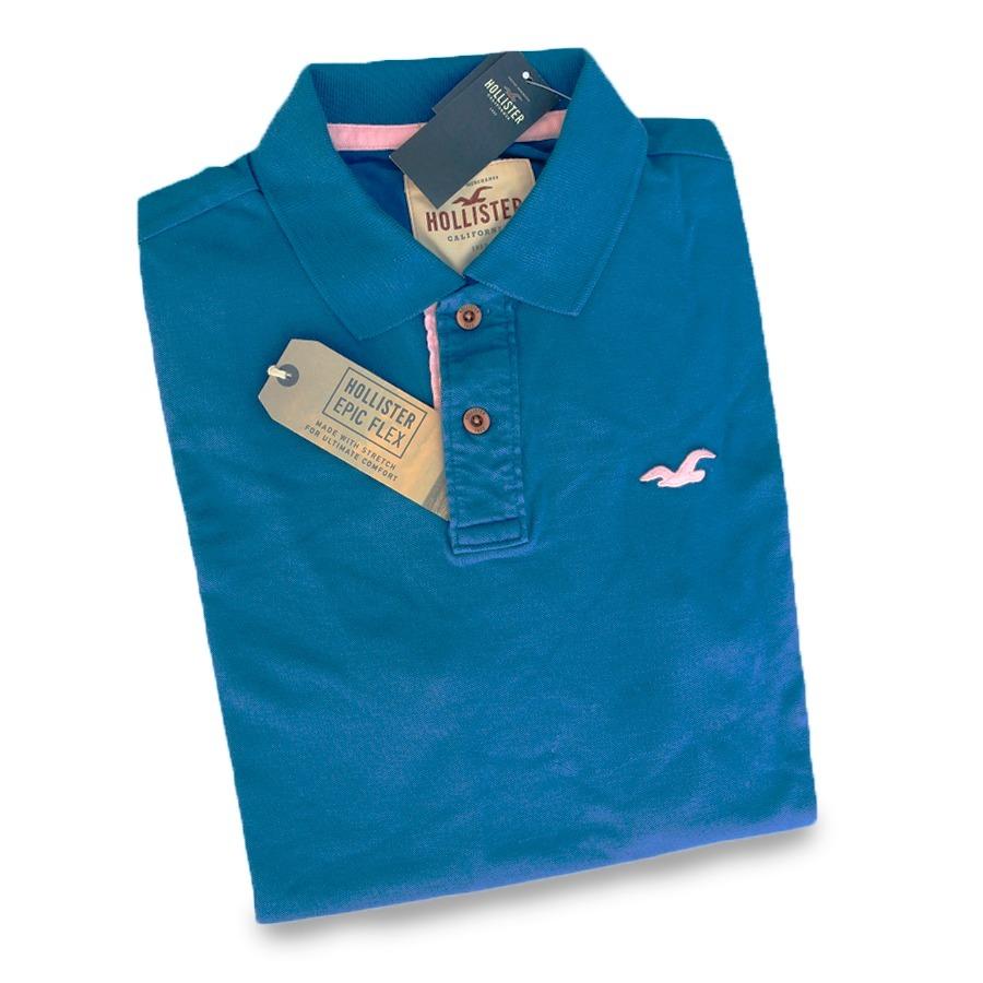 6af7375a1a camisa camiseta hollister gola polo original stretch tam.g. Carregando zoom.
