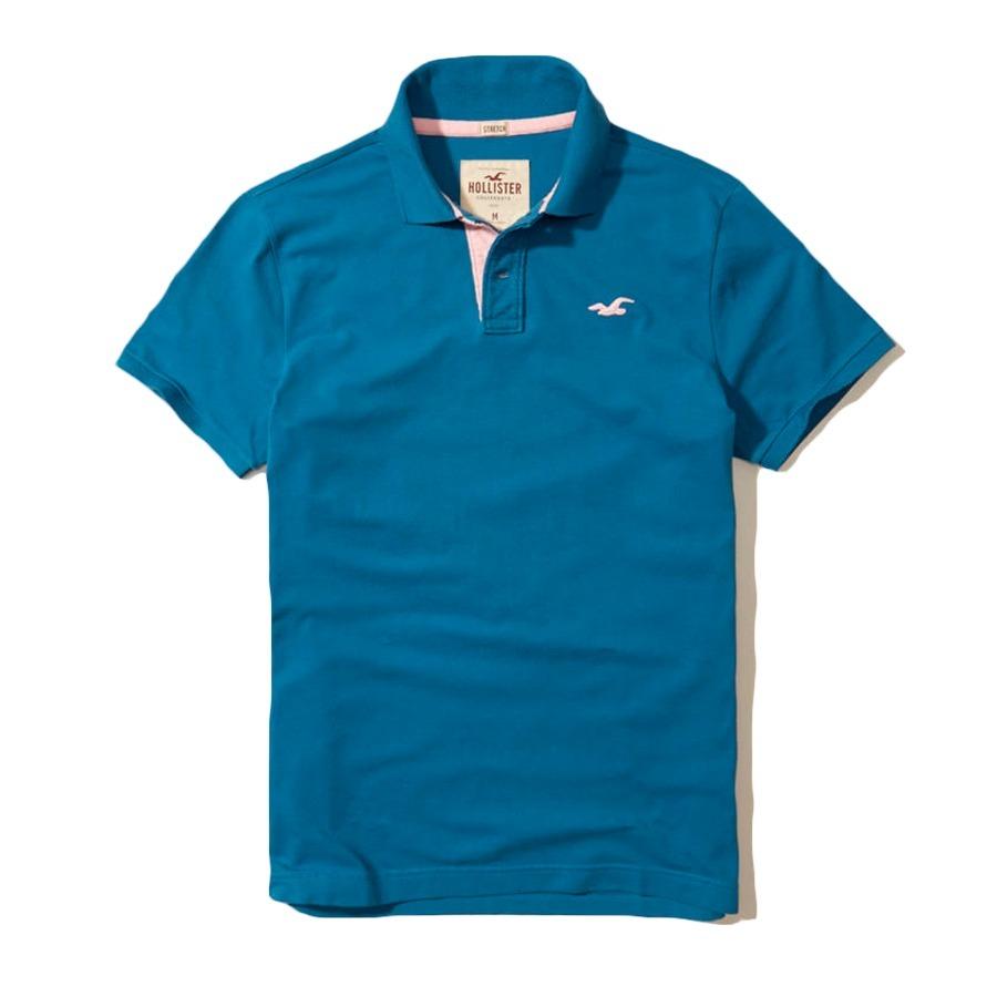 d89e68698e759 camisa camiseta hollister gola polo original stretch tam.g. Carregando zoom.