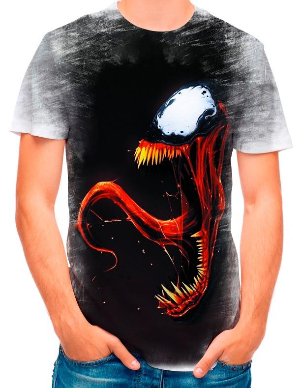 a152947e3 Camisa Camiseta Homem Aranha Venom 1957 - R  35