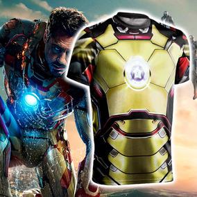 Camisa Camiseta Homem De Ferro 3d Os Vingadores Ultimato