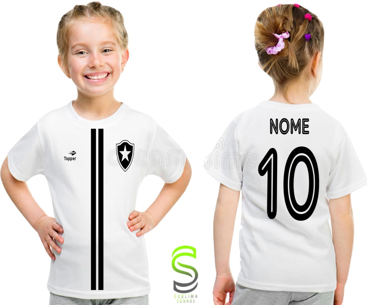 camisa camiseta infantil botafogo personalizada ref 02. Carregando zoom. 335592242e717