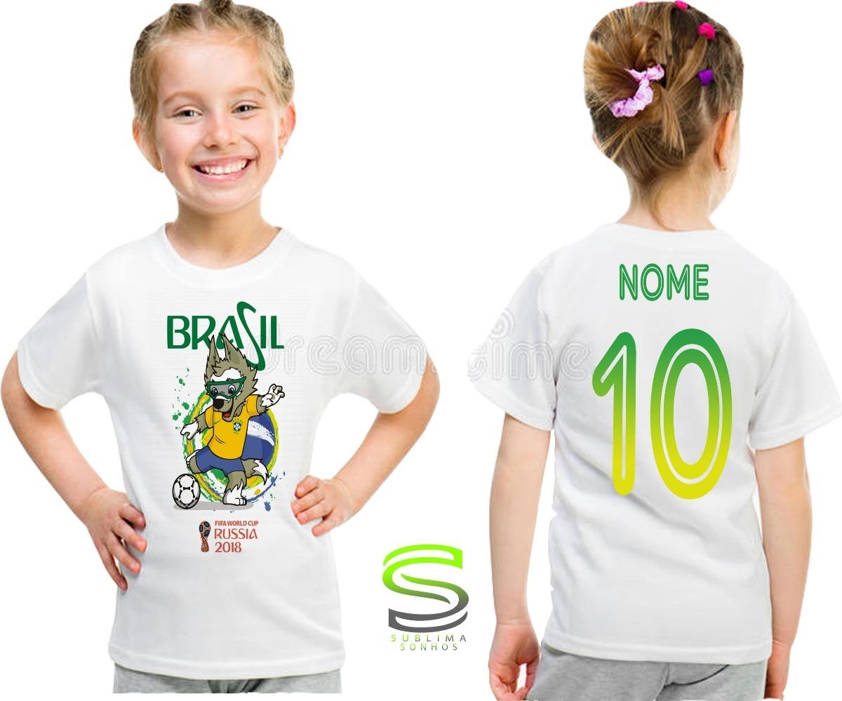 camisa camiseta infantil brasil personalizada fem mod 05. Carregando zoom. 8d5bed900cf93