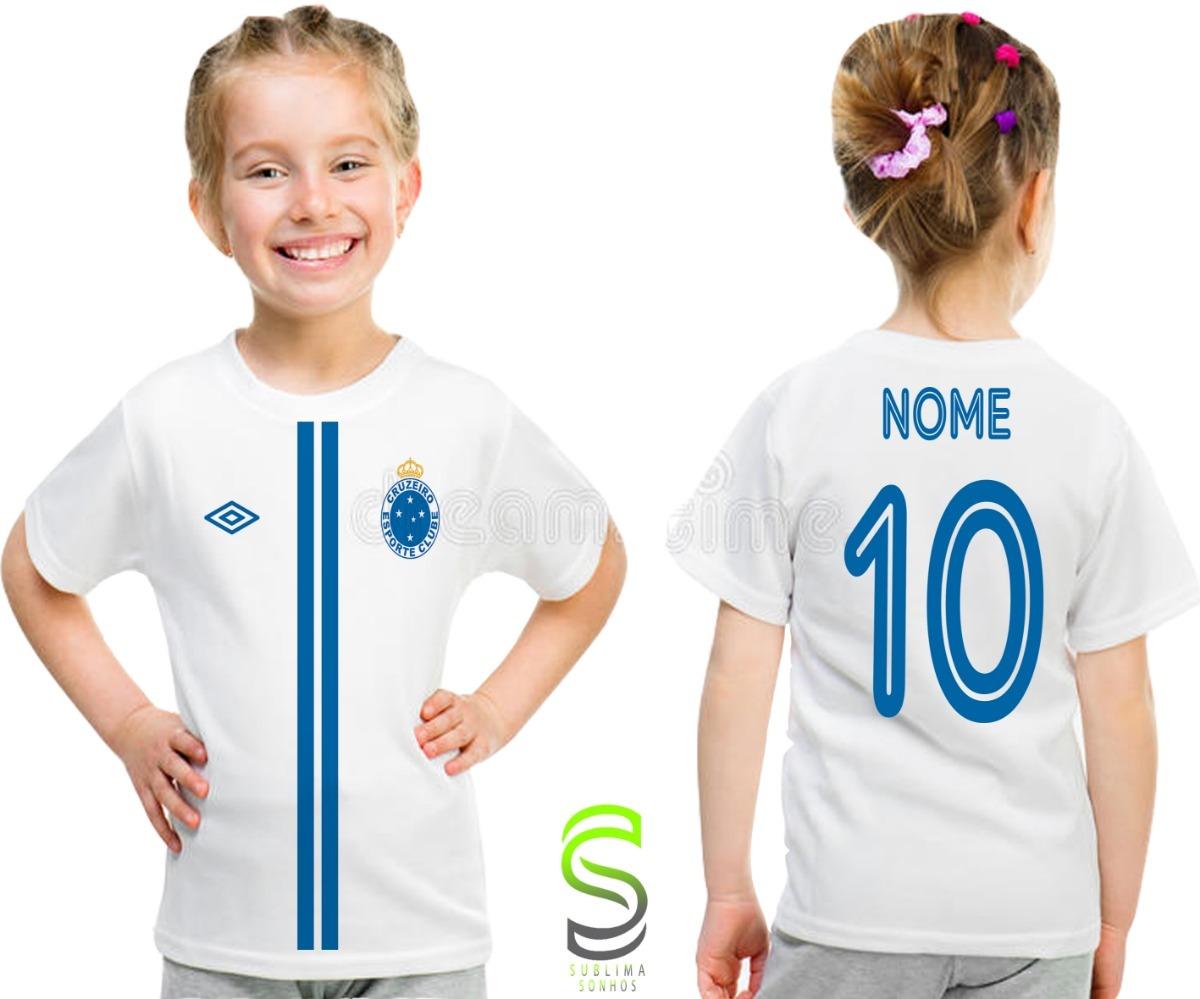 camisa camiseta infantil cruzeiro personalizada ref 01. Carregando zoom. e903e79d0628e