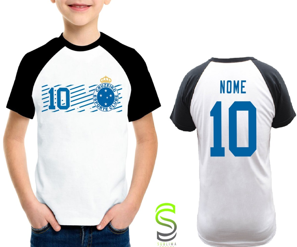 camisa camiseta infantil cruzeiro personalizada ref 090. Carregando zoom. 1f3aba2743569
