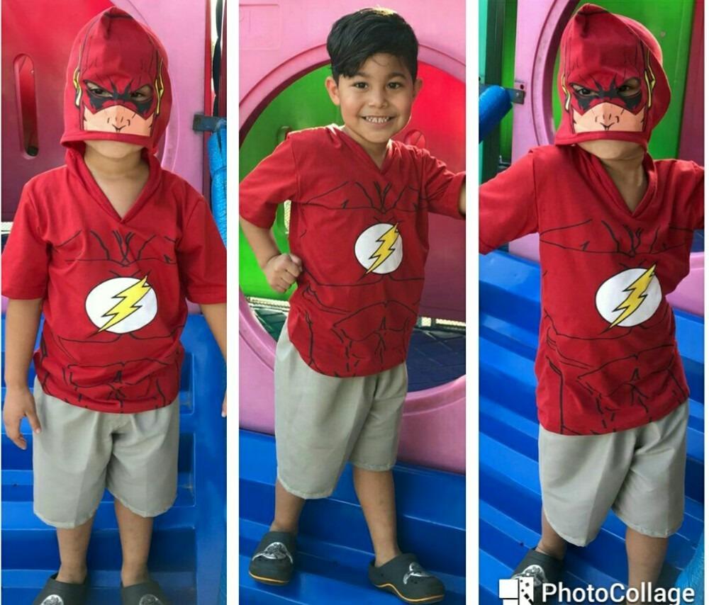 ab5b5091b camisa camiseta infantil flash com capuz estilo máscara boy. Carregando  zoom.