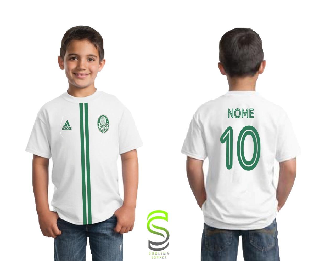camisa camiseta infantil palmeiras personalizada ref 02. Carregando zoom. 75d21fa7832bf